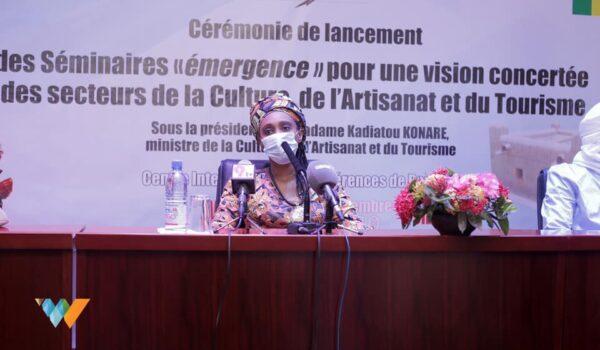Cérémonie de lancement des séminaires thématiques sur le secteur artistique et culturel organisé par le Ministère de la Culture de l'Artisanat et du tourisme au Mali